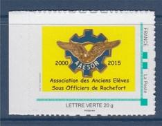 Association Des Anciens Elèves Sous Officiers De Rochefort Timbre AAESOR Lettre Verte