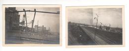 (n°746  ) Photo  Originale ALLEMAGNE DUISBOURG  DUISBURG  1922 Chantier Et Voie Ferrée - Lieux