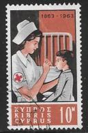 Cyprus, Scott # 227 Used Red Cross Nurse, 1963