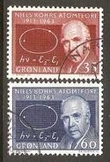 004084 Greenland 1963 Bohr Set FU - Greenland