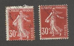 FRANCE - N°YT 160+360 OBLITERES - COTE YT : 2.30€ - - 1906-38 Sower - Cameo