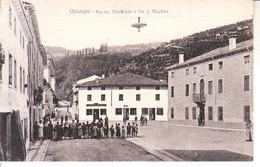 CHIAMPO (vicenza) - Piazza, Municipio E Via..... Ben Animata, 1910 Circa - 2017-415 - Autres Villes