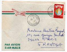 Madagascar--Lettre De VOHIPENO Pour PARIS (France)--timbre Seul Sur Lettre - Madagascar (1960-...)