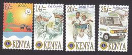 Kenya, Scott #697-700, Mint Hinged, Lions Club International, Issued 1996 - Kenya (1963-...)