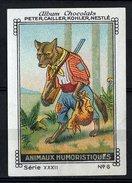 Nestlé - XXXII - Animaux Humoristiques, Humorous Animals - 6 - Wolf, Loup, Hunting - Nestlé