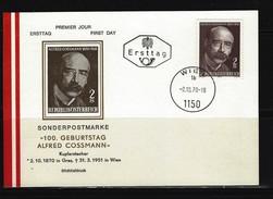 ÖSTERREICH - FDC Mi-Nr. 1342 - 100. Geburtstag Von Alfred Cossmann Stempel Wien - Postkarte (2) - FDC