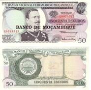 Mozambique 50 Escudos 1976 Sobre 1970 Pick 116 UNC - Mozambique