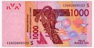 WEST AFRICAN STATES GUINEA-BISSAU 1000 FRANCS 2003/12 Pick 915Sf Unc - Stati Dell'Africa Occidentale