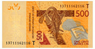 WEST AFRICAN STATES 500 FRANCS 2012/13 TOGO Pick 819Tb Unc - West African States