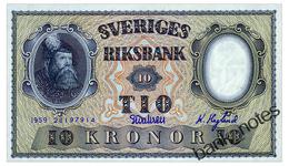 SWEDEN 10 KRONOR 1959 Pick 43g Unc - Sweden