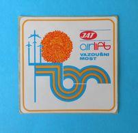 JAT - YUGOSLAV AIRLINES ... Vintage Official Sticker * National Airways * Plane * Avion * No. 2 - Aufkleber