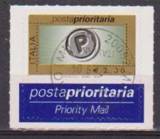 ITALIA  2004 POSTA PRIORITARIA SASS. 2749 USATO SU FRAMMENTO VF - 6. 1946-.. Repubblica