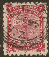 NZ 1891 2d Govt Life VR P10 SG L9 U #ZS025 - Service