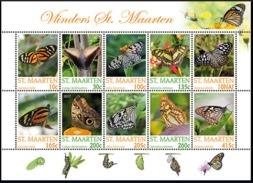 ST. MAARTEN 2017 DEFINITIVES BUTTERFLIES VLINDERS PAPILLON SCHMETTERLING MNH ** VERY FINE - Curazao, Antillas Holandesas, Aruba