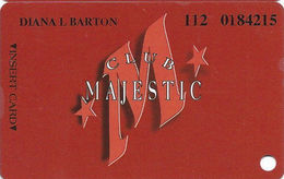 Majestic Star Casino - Gary, IN USA - 10th Issue Slot Card - Red M - Text & #s In Phone# - Casino Cards