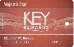 Majestic Star Casino - Gary, IN USA - Slot Card - Casino Cards