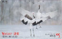 Télécarte Japon / NTT 430-213 - OISEAU GRUE En Parade Sur Hokkaido / B1 - CRANE BIRD Japan Phonecard - KRANICH - Other