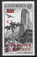 Cameroun, Scott # C40a Type 2 Mint Hinged Rhumsiki Peak, Surcharged, 1961 - Cameroon (1960-...)