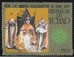 Chad, Scott # 328 Used Queen Elizabeth Reighn 25th Anniv., 1977 - Chad (1960-...)