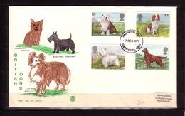 26o * GROSSBRITANNIEN 781/4 * BRITISH DOGS * ERSTTAGSBRIEF *!! - 1971-1980 Dezimalausgaben