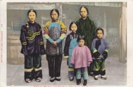 Chinatown Ethnic Women And Children, San Francisco California Chinatown C1900s Vintage Postcard - Asia