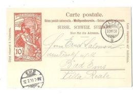 SWITZERLAND 1900 STAMPED PC JUBILE DE L'ÚNION POSTALE ### - Suisse