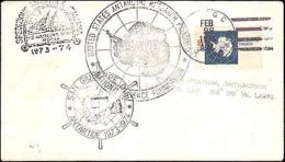 1974 US STATEN ISLAND ANTARCTIC + ITALIAN ANTARCTIC CACHETS - Storia Postale