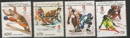 1990 Comoros Winter Olympics Ice Hockey Canada Skiing  Complete Set Of 4  MNH