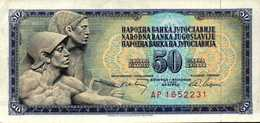 YOUGOSLAVIE 50 DINARA  Du 1-5-1968  Pick 83c  XF/SUP+ - Yougoslavie