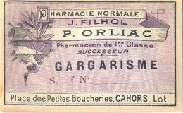 1 Etiquette Ancienne De Pharmacie - GARGARISME - PHARMACIE NORMALE ORLIAC, PLACE DES PETITES BOUCHERIES - CAHORS - Labels