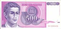 YOUGOSLAVIE 500 DINARA  De 1992  Pick 113  UNC/NEUF - Yougoslavie