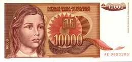 YOUGOSLAVIE 10000 DINARA  De 1992  Pick 116a  UNC/NEUF - Yougoslavie