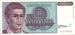 YOUGOSLAVIE 100000000 DINARA  De 1993  Pick 124  UNC/NEUF - Yougoslavie