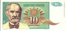YOUGOSLAVIE 10 DINARA  De 1994  Pick 138a  UNC/NEUF - Yougoslavie