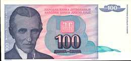 YOUGOSLAVIE 100 DINARA  De 1994  Pick 139a  UNC/NEUF - Yougoslavie