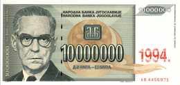 YOUGOSLAVIE 10000000 DINARA  De 1994  Pick 144a  UNC/NEUF - Yougoslavie