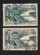 Poste Aérienne N° 25 Vert Et Vert Noir,Nuances Couleur, P A,Variété Variétés - Varieteiten: 1945-49 Afgestempeld