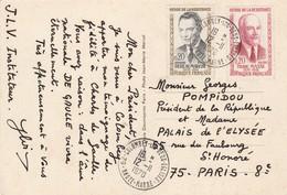 HEROS RESISTANCE DEBEAUMARCHE  PIERRE MASSE Sur CPA DE GAULLE COLOMBEY LES DEUX EGLISES Pour PRESIDENT DE LA REPUBLIQUE - 1961-....