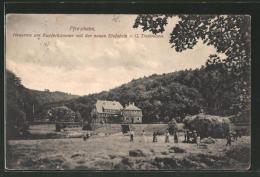 AK Pforzheim, Heuernte Am Kupferhammer Mit Der Neuen Eisfabrik, Bes.: G.Treibmann - Pforzheim