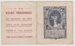 RARE Carte Parfumée De Luzy 1926 Faisant Calendrier Pub à La Ruche Méridionnale Voir Scans Recto-verso Pour état - Cartes Parfumées