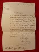 LETTRE CACHET GRAY AUTOGRAPHE BARON DE BARBEREY NOBLESSE - Autographs