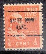 USA Precancel Vorausentwertung Preos Locals Kansas, Saint John 704