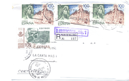 2001. Spain, He Letter Sent By Registered Post To Moldova - 2001-10 Lettres