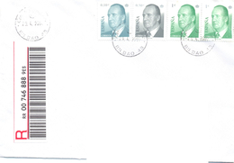 2002. Spain, He Letter Sent By Registered Post To Moldova - 1931-Heute: 2. Rep. - ... Juan Carlos I