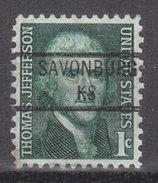 USA Precancel Vorausentwertung Preos Locals Kansas, Savonburg 841