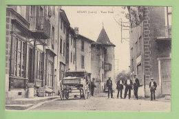 REGNY : Tour Pizet, Rue Animée. TBE. 2 Scans. - France