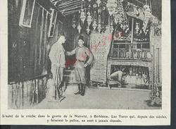 MILITARIA IMAGES MILITAIRE DE COUPURE DE PRESSE JOURNAL ILLUSTRATION DE 14/18 COLER SUR PAPIER EPAIS LA CRECHE BETHLÉEM - 1914-18