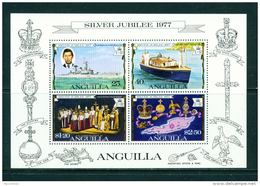 ANGUILLA - 1977 Silver Jubilee Miniature Sheet Unmounted Mint - Anguilla (1968-...)