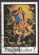 """361 Ras Al Khaima 1970 """"Assunzione"""" Quadro Dipinto Da Philippe De Champaignei Paintings Tableaux Nuovo Preoblit."""