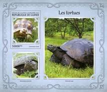 GUINEA 2017 SHEET TURTLES TORTUES TARTARUGAS TORTUGAS TARTARUGHE SCHILDKROTEN REPTILIEN REPTILES MARINE LIFE Gu17111b - Guinée (1958-...)